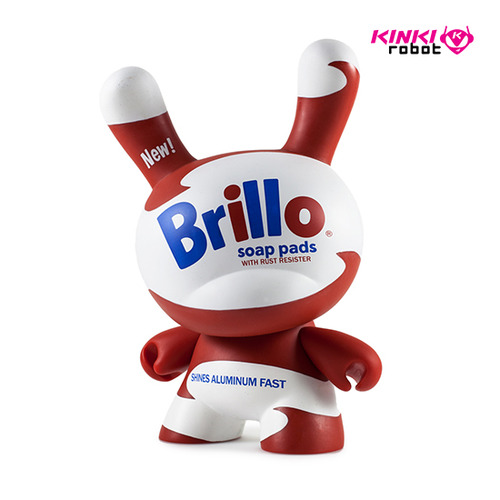 "8""Dunny Warhol Masterpiece_Brillo White"
