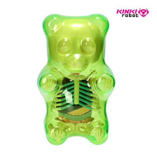 FUNNY ANATOMY GUMMI BEAR (CLEAR GREEN)