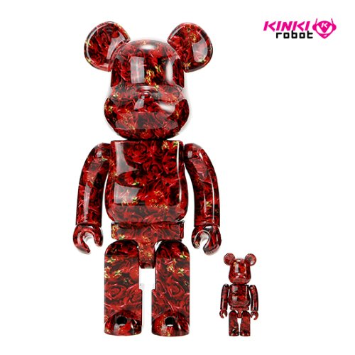400%+100%BEARBRICK MIKA NINAGAWA LEATHER ROSE