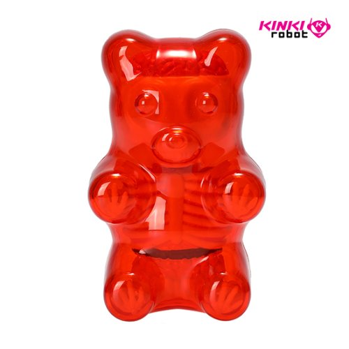 FUNNY ANATOMY BABY GUMMI BEAR (CLEAR RED)