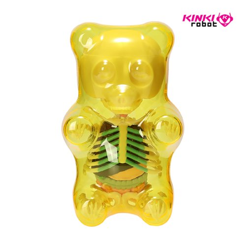 FUNNY ANATOMY GUMMI BEAR (CLEAR YELLOW)
