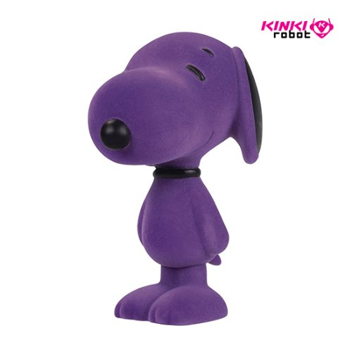 SNOOPY FLOCKED VINYL FIGURE ORCHID