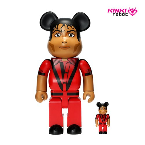 400%&100%BEARBRICK MICHAEL JACKSON RED JACKET