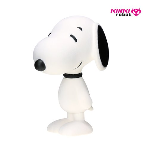 SNOOPY FLOCKED VINYL FIGURE WHITE