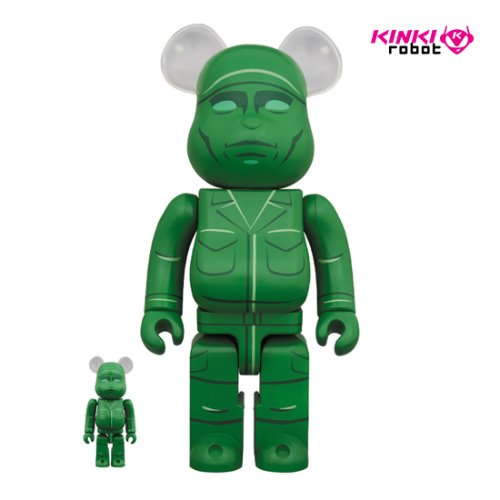 400%&100%BEARBRICK GREEN ARMY MEN