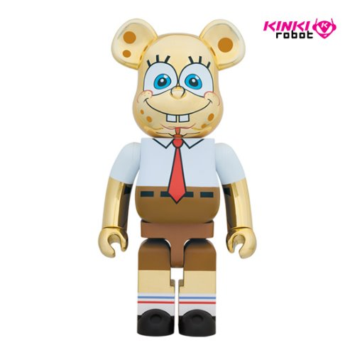 1000%BEARBRICK SPONGE BOB GOLD CHROME