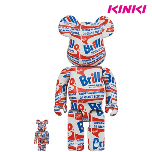 "400%+100%BEARBRICK ANDY WARHOL ""BRILLO"""